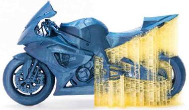 Пример модели, напечатанной пластиком PLA с поддержками из PVA